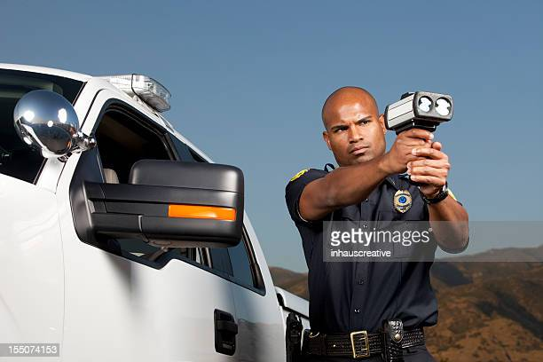 Desert Patrol Agent with a Radar Gun