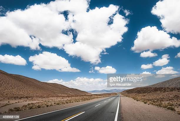 Desert Road in Argentina