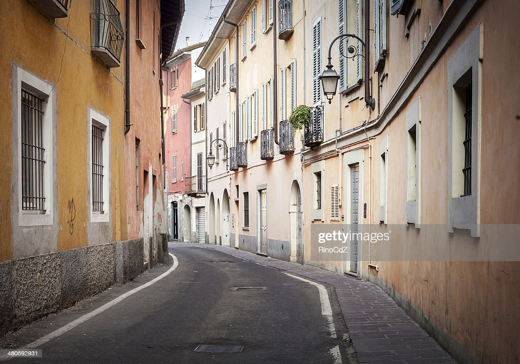 Desert Road Of Italian Village : Stock Photo
