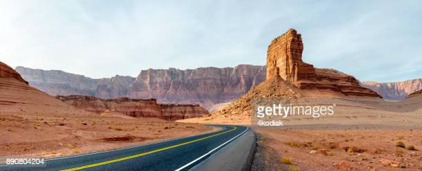 desert road panorama - sandy utah stock pictures, royalty-free photos & images