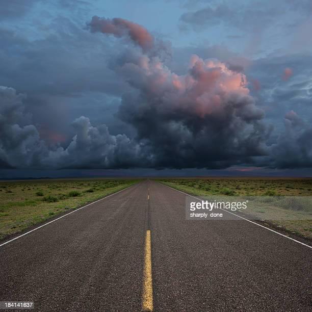 XXL desert road thunderstorm