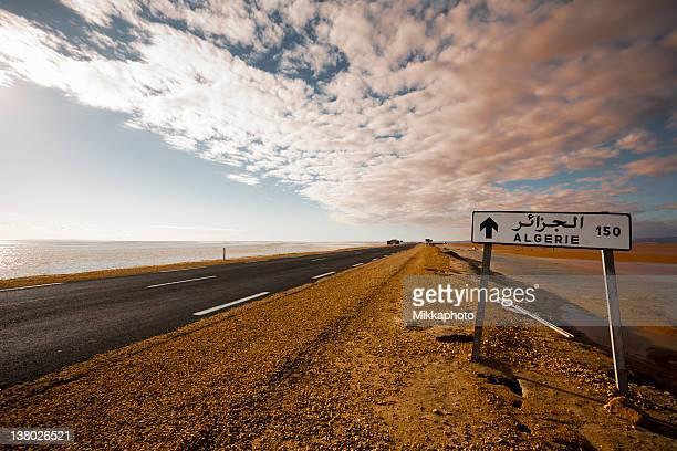 Strada del deserto in Algeria