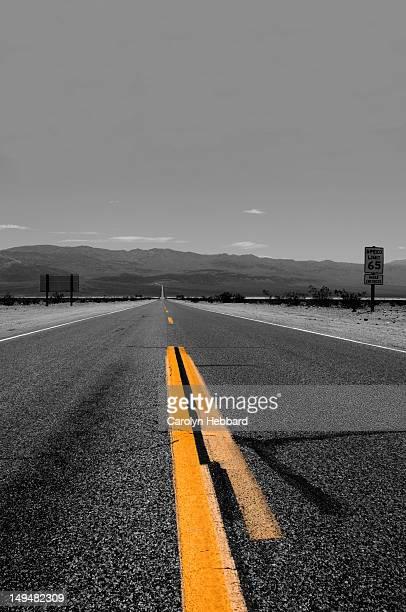 Desert Road with Line Markings