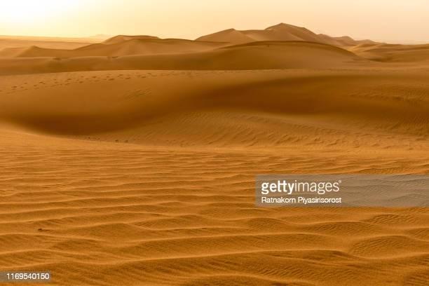 desert sand dune and camel caravan in taklamakan desert, dunhuang in gansu province, china - lugar histórico imagens e fotografias de stock