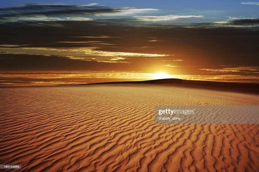 XL desert sand sunset : Stock-Foto