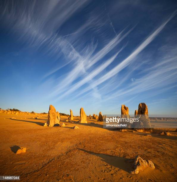 Desert scene at The Pinnacles in Western Australia