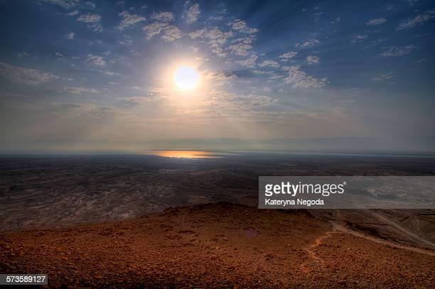 Desert sun in Masada, Israel