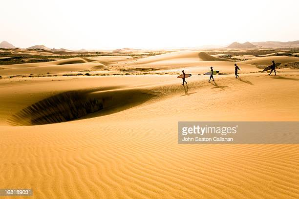 Desert surfers in the Wahiba Sands