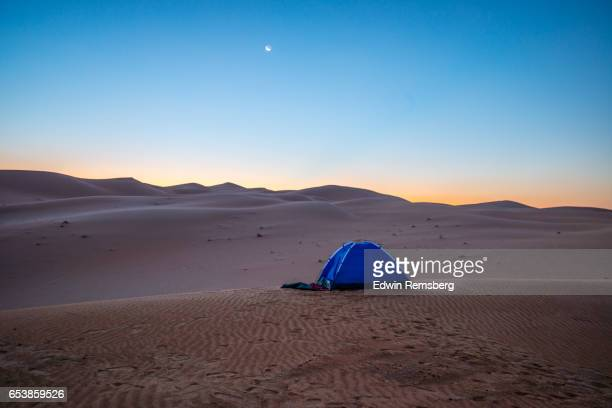 Desert tent at sunrise