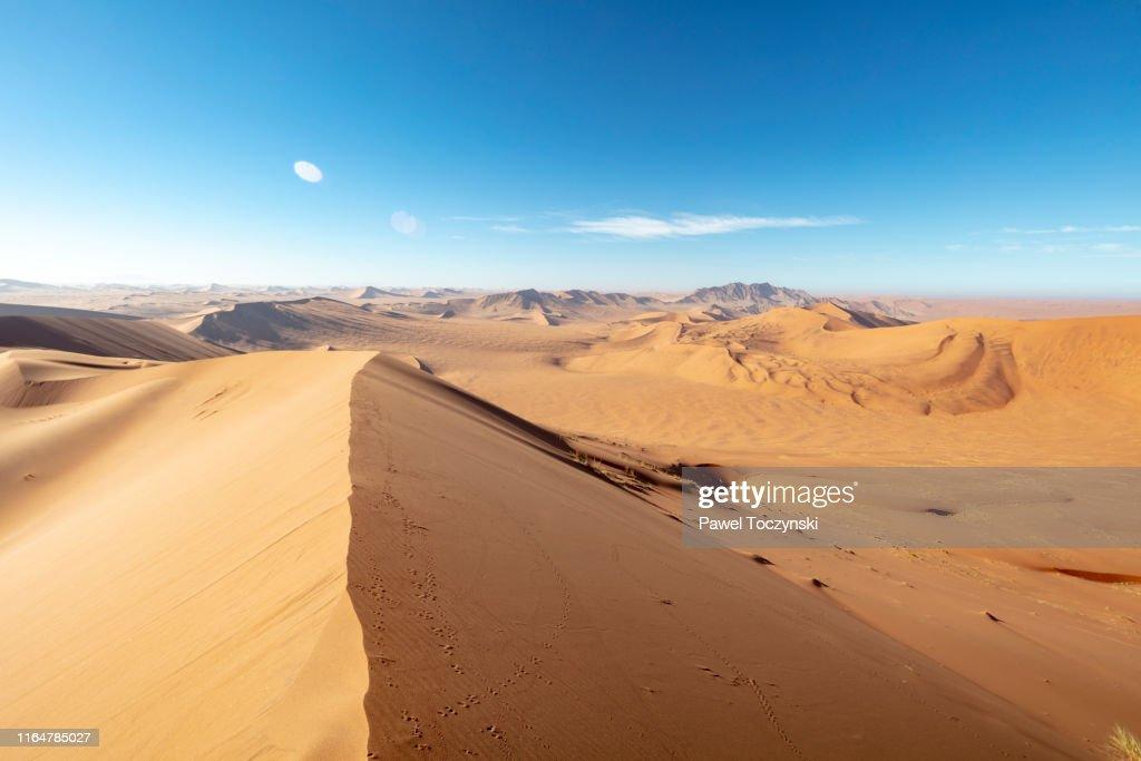 Desert Trail To Big Daddy Dune In Sossusvlei Namibia 2018