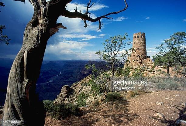 desert view watchtower at the grand canyon - public domain stock pictures, royalty-free photos & images