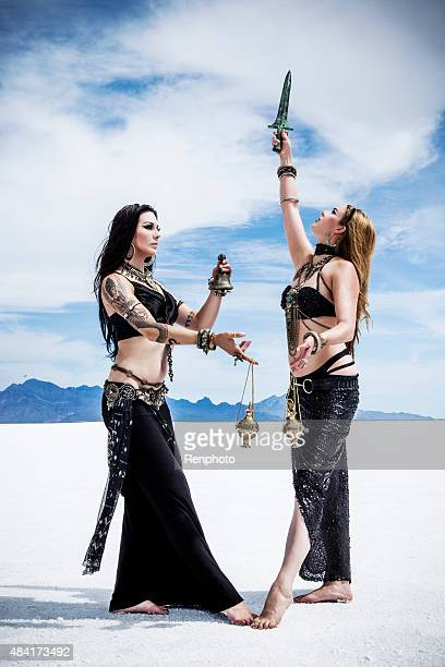 desert witches series - belly dancing stock photos and pictures