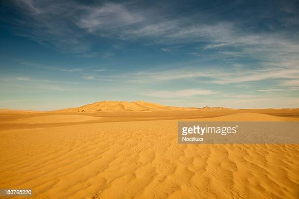 desert mit fernen dunescape in Libysche Sahara desert
