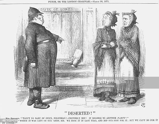 Deserted 1875 Mr Disraeli the Conservative Prime Minister stands on the right with his Lord Chancellor Hugh McCalmont Cairns 1st Earl Cairns The...