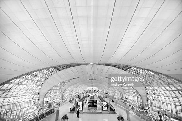 Deserted airport in Bangkok, Thailand.