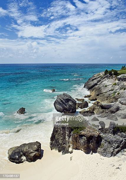 Deserted Astwood Cove beach Caribbean Bermuda