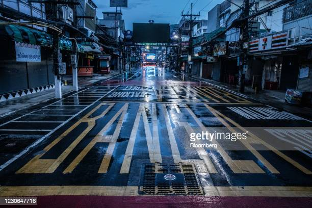 Deserted Bangla Road in Patong, Phuket, Thailand, on Saturday, Dec. 19, 2020. The tepid response to Thailands highly publicized reopening illustrates...