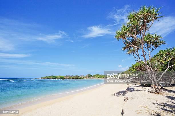 A deserted beach at Nusa Dua