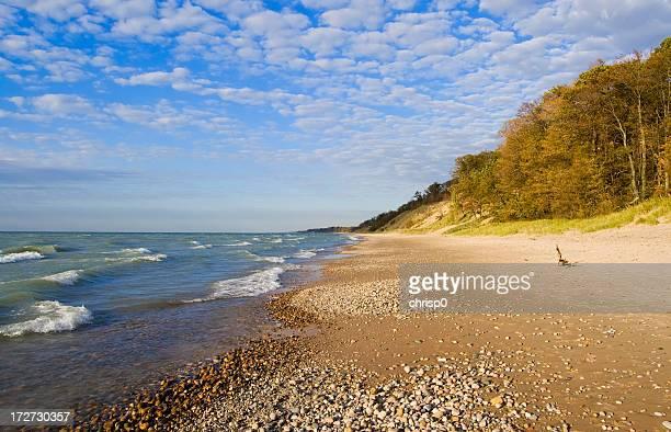 Deserted Beach in Autumn