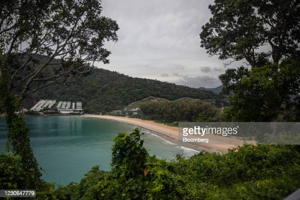 Deserted beach in Phuket, Thailand, on Sunday, Dec. 20, 2020. The tepid response to Thailands highly publicized reopening illustrates the...