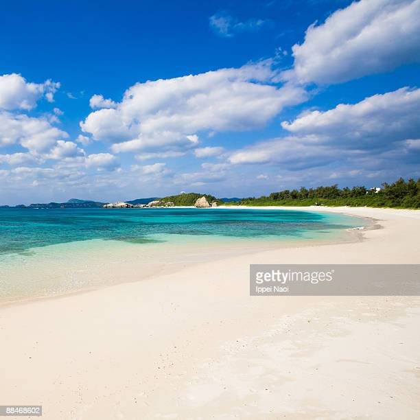 Deserted beach of the tropical island