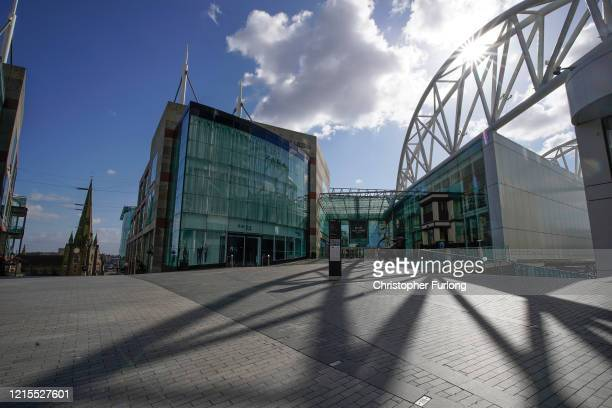 Deserted Bull Ring shopping centre in Birmingham during the nationwide lockdown on March 29, 2020 in Birmingham, United Kingdom. Even on a normal...