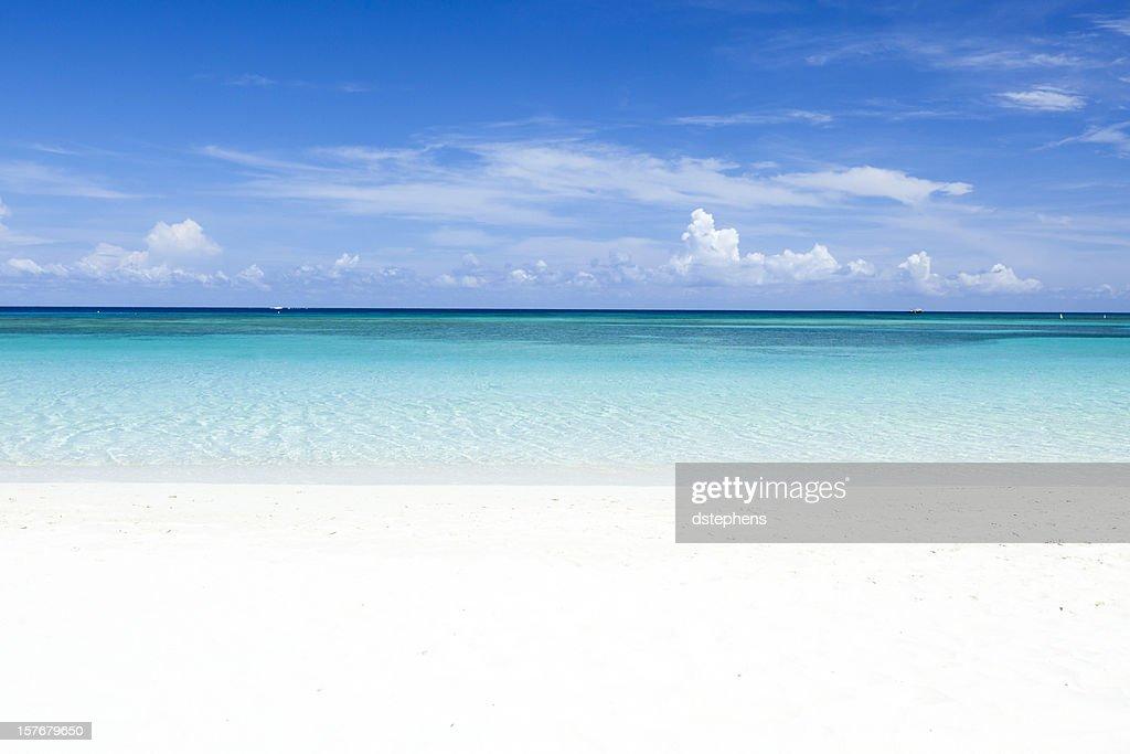 カリブ海のビーチに続く : ストックフォト
