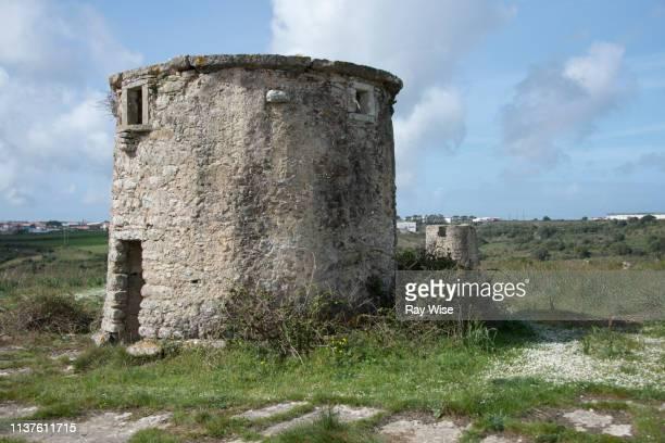 deserted circular buildings in sintra, portugal - quinta da regaleira photos stock pictures, royalty-free photos & images