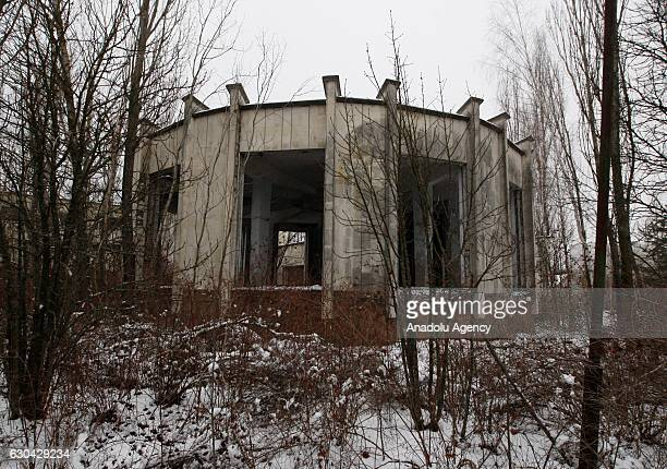 Deserted city Pripyat near Chernobyl nuclear power plant, Ukraine, on December 22, 2016. The Chernobyl accident occurred on 26 April 1986 at the...