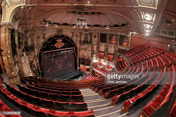 Deserted Coliseum Theatre on June 11, 2020 in London, England. The London Coliseum, the largest theatre in London's West End is currently closed...