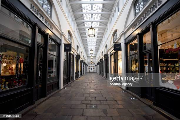 Deserted Covent Garden on January 05, 2021 in London, England. British Prime Minister made a national television address on Monday evening announcing...