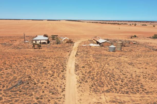 Deserted farm. Drought conditions. Eyre Peninsula. South Australia.