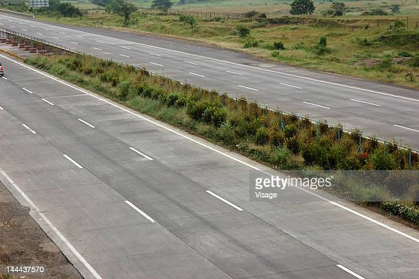 A deserted highway