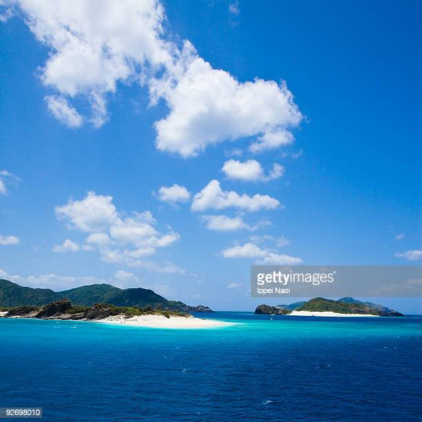 Deserted islands in the coral lagoon of Japan