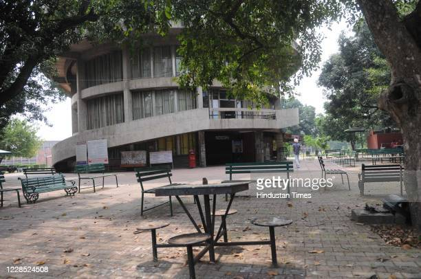 Deserted looking campus of Panjab University during the suspension of classes due to coronavirus outbreak, on September 14, 2020 in Chandigarh, India.