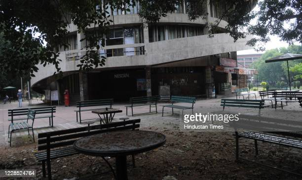 A deserted looking campus of Panjab University during the suspension of classes due to coronavirus outbreak on September 14 2020 in Chandigarh India