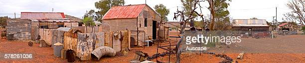 Deserted miners' cottages in a ghost town Gwalia was a goldmining town Underground mining began in 1897 at the Sons of Gwalia mine that became the...