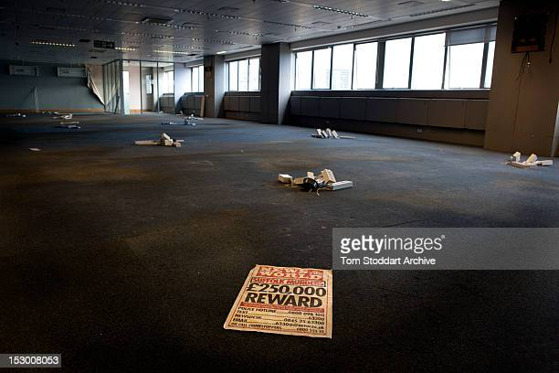 Deserted offices at the News of the World inside the former News International base in Wapping, East London. Media mogul Rupert Murdoch moved his...