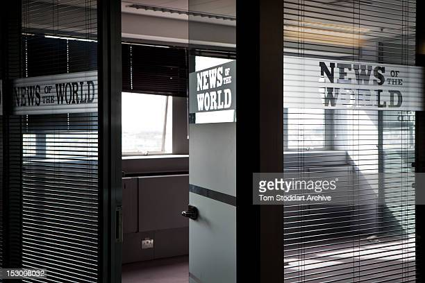 Deserted offices of News of the World executives near the newsroom inside the former News International base in Wapping, East London. Media mogul...