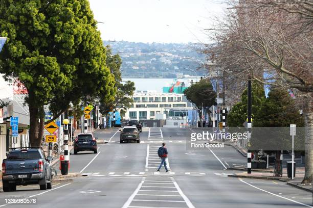 Deserted Parnell Rise as Aucklanders wake to an extended level 4 lockdown on August 24, 2021 in Auckland, New Zealand. Level 4 lockdown restrictions...