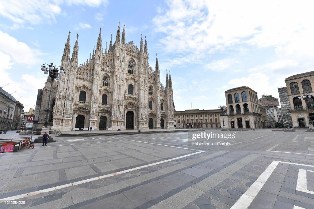 Italian Daily Life Comes To A Halt During Coronavirus Shutdown : News Photo