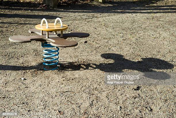 Germany, Suttgart, Spring seesaw in playground