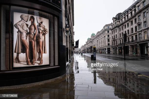 A deserted Regent Street is seen on March 30 2020 in London England The Coronavirus pandemic has spread to many countries across the world claiming...