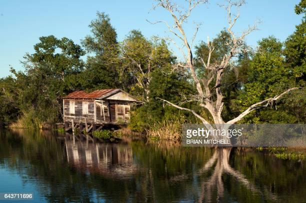 Deserted river house, Bayou Black, Louisiana