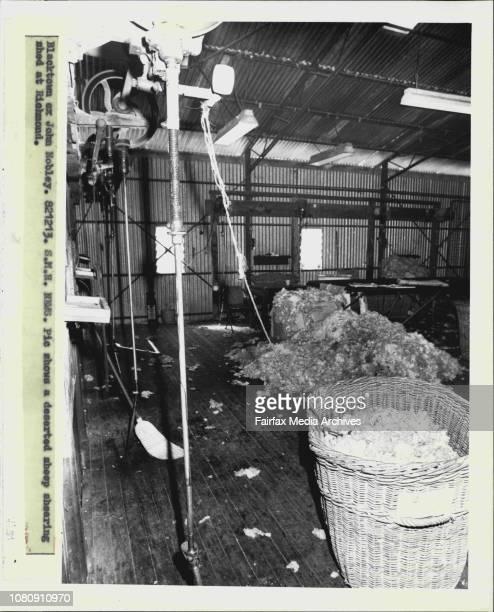 A deserted sheep shearing shed at Richmond December 13 1982