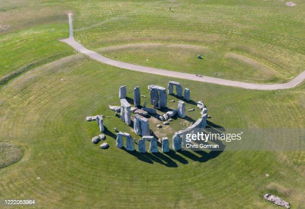 Deserted Stonehenge on March 25,2020 in Wiltshire,England.