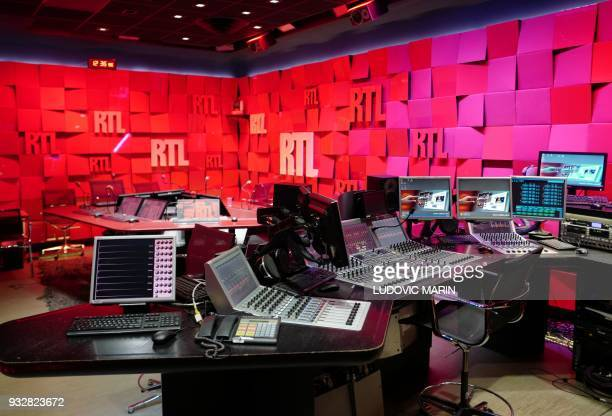 A deserted studio at French radio station RTL radio's historical headquarters at Bayard Street in central Paris on March 16 ahead of a planned move...