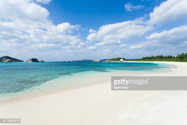 Deserted tropical beach and clear water, Japan