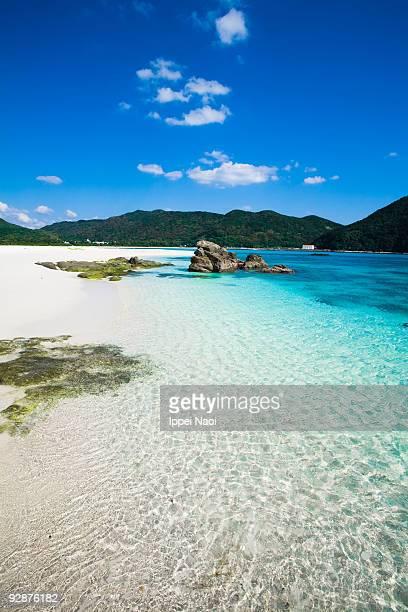 Deserted tropical beach of Okinawa, Japan