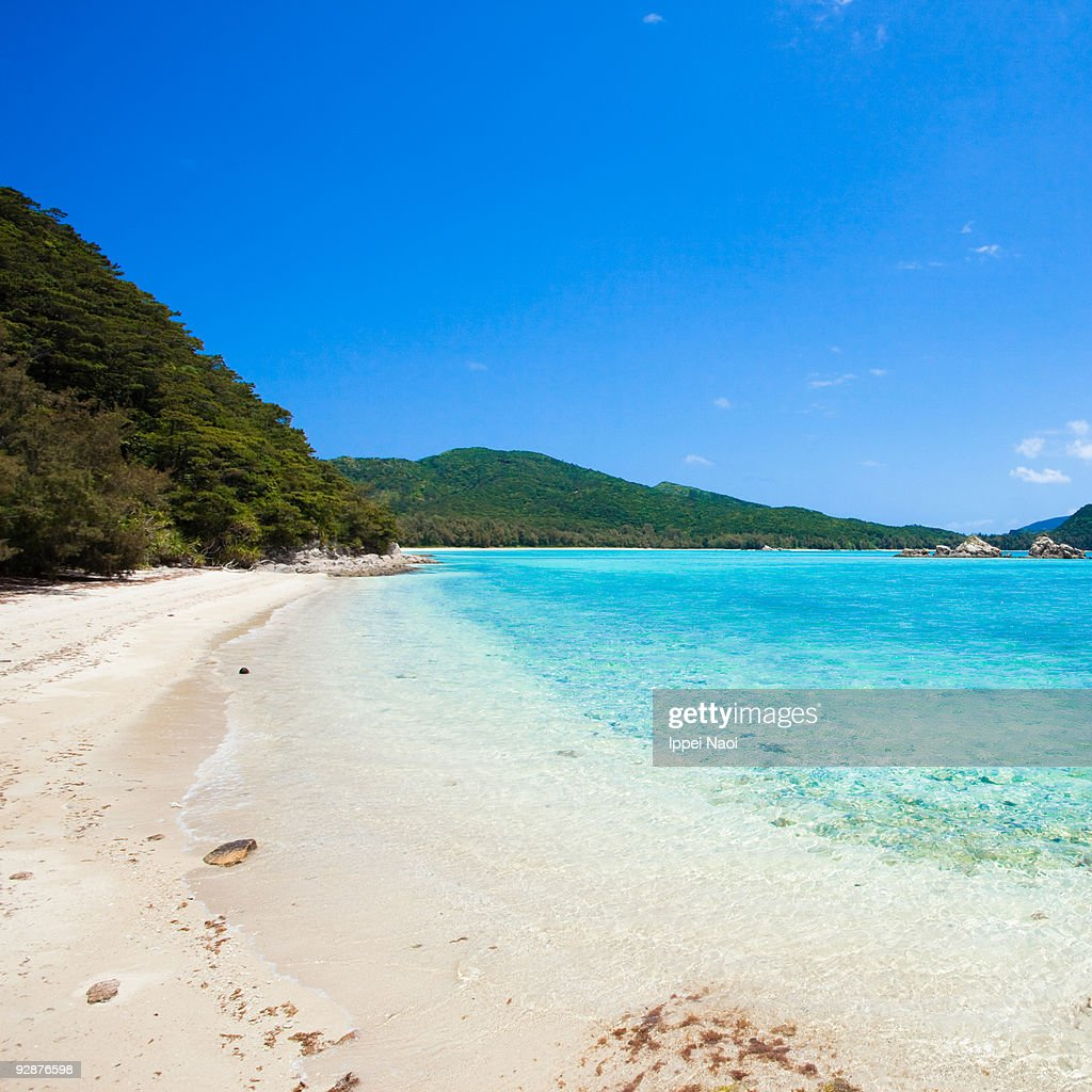 Exotic Beach: Deserted Tropical Beach With Blue Clear Water High-Res